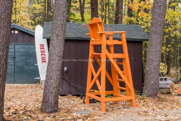 01 Echo Lake - Life Guard Chair and Rescue Ready for Winter
