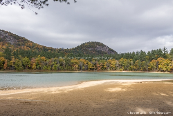 03 Echo Lake - White Horse Ledge and Cathedral Ledge In Autumn